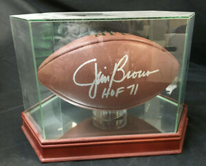 JIM BROWN SIGNED FOOTBALL WITH CERT + PHOTO Steven Artsis Collection