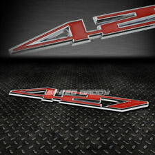 METAL BUMPER TRUNK GRILL EMBLEM DECAL STICKER LOGO BADGE CHROME/RED 427 Z06 C6