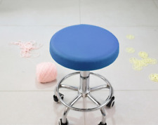 "1Pc 14"" Bar Stool Cover Round Chair Seat Cover Sleeve PU Leather Blue Dental"