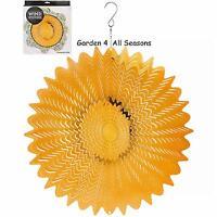 """12""""/30cm GOLD MIRROR Stainless Steel Wind Spinner Sun Catcher Hook Garden Gift"""