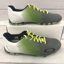 Oakley Cipher 3 Men's Size 9 Golf Shoes Nanospike Gray White Green