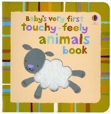 Usborne Baby's Very First Touchy-Feely Animals Book c2011 NEW Board Book