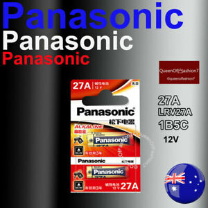 2 x 27A Panasonic 12V 27A/A27 Battery Batteries Garage Car Remote Alarm