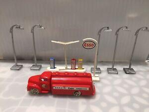 Lego Vintage 1950s-60s Esso Petrol Tanker Pumps And Street Lights Bundle RARE!