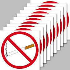 10 Aufkleber 7cm quadratisch Rauchverbot Rauchen untersagt Verboten Nichtraucher