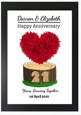 Wedding Anniversary Print Personalised Gift ANY Year Novelty Gift