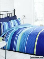 Parures et housses de couette bleu avec des motifs Rayé contemporains