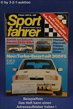 Sportfahrer 9/81 Maserati Porsche 911 Rallye Turbo Esco