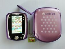 Leapfrog Leappad 2 Green With Purple Gel Cover 1 Cartridge+Protective Carry Case