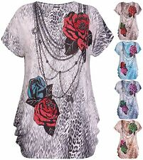 Cap Sleeve Floral Tops & Shirts Plus Size for Women
