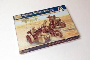 ITALERI Military Model 1/72 German Motorcycles WWII Scale Hobby 6121 T6121