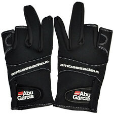 Abu Garcia 3 Cut Finger Fishing Gloves Waterproof hunting gloves free shipping