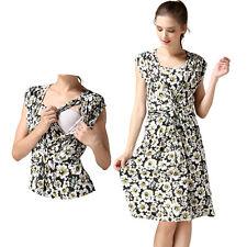 Floral Summer Maternity Dresses Breastfeeding Nursing Dress For Pregnant Women