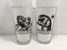 2 Firestone Walker Brewing Co Beer Pint glasses glass 16oz Lion And The Bear.