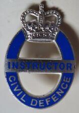 British Civil Defence Instructor Badge Button Hole type Badge