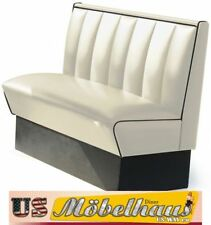 HW-120W American Diner Bench Seating Furniture 50´S USA Style Catering