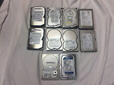 """Lot of 8 - 80GB LOT OF 2 160GB 7200 RPM 3.5"""" Desktop SATA Hard Drive"""