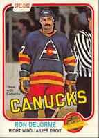 1981-82 O-Pee-Chee Ron Delorme Vancouver Canucks #82