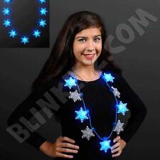 Christmas Jumbo Snowflake Light Up Flashing Fun Holiday Necklaces - Hot!
