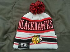 New Era Chicago Blackhawks Cuffed Knit Pom Winter Hat NHL Unisex