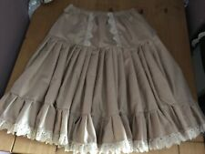 Rockabilly swing and jive cappuccino coffee  coloured cotton petticoat