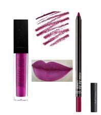 Sleek Matte Me Lip Cream - Fandango Purple & Waterproof Lip Liner - Venom Sealed
