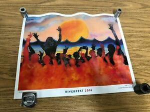 🌞Riverfest 2016 Little Rock Arkansas Concert Festival 20x16 Poster Signed 25/50