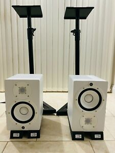 Yamaha hs7 speakers (pair) WHITE - Perfect Condition + STANDS & SPEAKER PADS