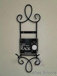 """Tripar Augusta Black Metal Display Rack for One 6 1/2"""" - 8 1/4"""" Plate, 16.05"""""""