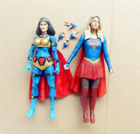 "lot 2 DC Universe Big Barda DC Collectibles SUPERGIRL tv action Figure 6"" 6.75"""