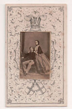 Vintage CDV King Edward VII Queen Alexandra of Britain