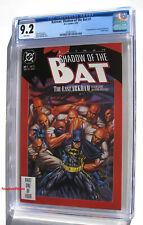 BATMAN SHADOW OF THE BAT #1 CGC 9.2 NM- 1992 1st App Victor Zsasz (Birds Of Prey
