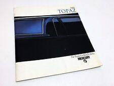 1988 Mercury Topaz Brochure