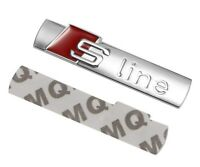 Audi S Line Badge Chrome Silver Rear Boot Emblem Sticker Side Wing Fender - Line