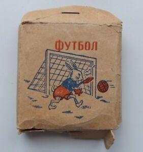 1964 Russia Game Footbal Soccer Rabbit Goalkeeper in Original Box