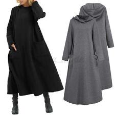 Womens Winter Warm Hooded Hoodies Long Sleeve Loose Pullover Sweatshirt Dress