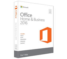 NEW! Microsoft Office Home and Business 2016 Medialess (Mac)