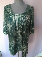 Simply Irresistible Plus Size Woman 1X Top Sweater Tunic Lace  Green New