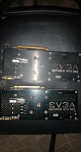 TWO EVGA NVIDIA GTX 960 Gaming 4GB And 2GB DDR5 Graphics Card COMBO!!