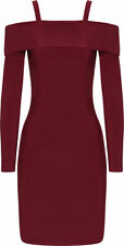 Bardot Polyester Dress Solid Clothing for Women