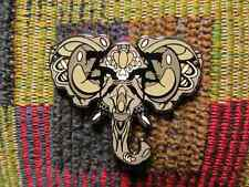 ZD Inspired Sugar Skull Gray Elephant Spirit Animal Ganesh Lapel Hat Pin