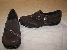 Women's Clarks Bendables Leather Shoes - 6.5M