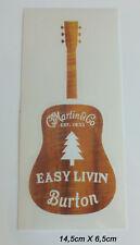 Martin & Co. Guitar Easy Livin Burton Sticker Aufkleber Adesivo (S112)