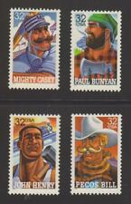 US MINT >SCOTT 3083 - 3086 > 32c FOLK HEROES 1996 MINT STAMPS NH OG.