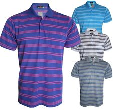 Men's Striped T-Shirts Loose Fit Pique Polo Polycotton 1905 Tops Casual M to 5XL