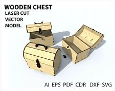 FILE DXF CDR EPS AI SVG for Laser Cut or CNC ROUTER Wooden chest VECTOR FILE