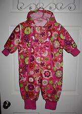 Girls Hanna Andersson Pink Floral Warm Snowsuit Size 80 / 10 - 24 Months