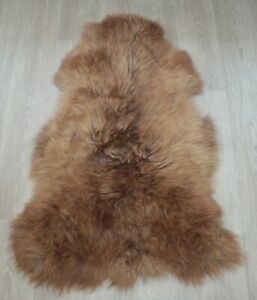 Art floor decor sheepskin rug natural skin carpet Dog bed 95*64cm