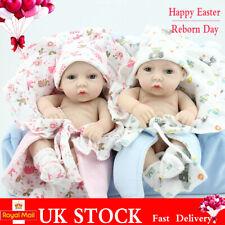 Handmade Twins Baby Dolls Realistic Full Body Vinyl Silicone Reborn Newborn Gift