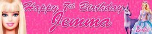 2 x Barbie Personalised Birthday Banners OPT2